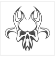 skull demon or evil horror vector image
