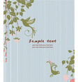 vintage floral background with birds vector image vector image