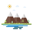 Landscapes by the sea in flat style vector image