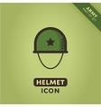 Soldier helmet icon vector image