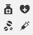 antibiotic icons set collection of heal vector image