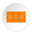 Basketball field icon circle vector image