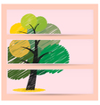 Creative scribble tree banners concept vector image