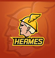 hermes abstract team logo emblem or sign vector image