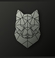 polygonal head of a wolf vector image