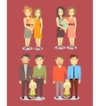 Set of gay LGBT happy families vector image