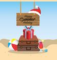 summer merry christmas holidays vacation vector image