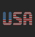 usa text in flag colors vector image