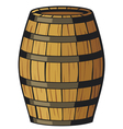 old wooden barrel vector image vector image