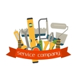 Set of flat construction tools vector image
