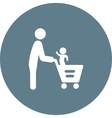 Father Son Shopping vector image