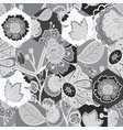 abstract seamless black and white pattern with vector image