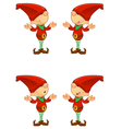 Red Elf Confused vector image