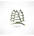 fir-tree forest grunge icon vector image vector image