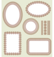 frame set decorative vector elements vector image