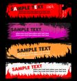 flame grunge banners vector image vector image