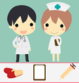 doctor and nurse set vector image
