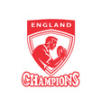 rugby player champion england vector image vector image