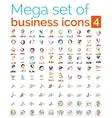 Logo mega collection vector image