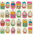 Candy Shop Sweets Background vector image vector image