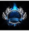Blue Emblem Races vector image