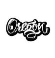 oregon sticker modern calligraphy hand lettering vector image
