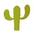 Plant carnegiea gigantea green cactus cartoon vector image