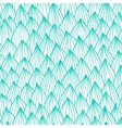 Seamless wave hand-drawn pattern two color waves vector image