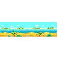 Seashore and ocean vector image