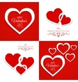 set of greeting cards Happy Valentines Day vector image