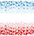 usa flag colors shiny abstract particles vector image