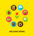 welcome spring concept vector image