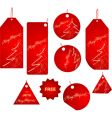 Christmas sale labels vector image vector image