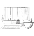 Hand drawn Bathroom vector image