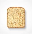 Bread slice vector image vector image