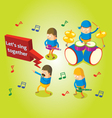 Isometric band performance vector image vector image