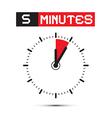Five Minutes Stop Watch - Clock vector image