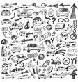 cars  auto repair - doodles vector image