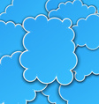 Paper blue paper cloud background vector image