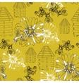 seamless pattern honey vector image vector image