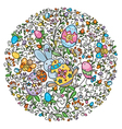 easter pattern vector image
