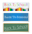 Back To School Banners vector image vector image