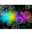 Atom particles colorful background vector image