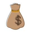 bag money dollar bank financial concept vector image