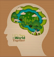 brain education infographic concept vector image
