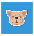 canine smiling face of french bulldog drawn icon vector image