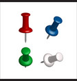 collection of various push pins vector image