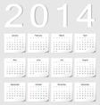 European 2014 calendar vector image