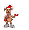 puppy in boots and mittens vector image