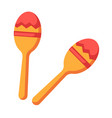 shock-and-noise instrument of indians - maracas vector image